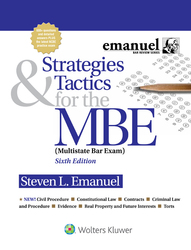 Cover image of Strategies and Tactics for the MBE, Sixth Edition