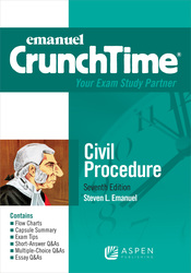 Cover image of Emanuel CrunchTime for Civil Procedure, Seventh Edition
