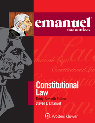 Cover image of Emanuel Law Outlines for Constitutional Law, Thirty-Seventh Edition