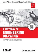 Cover image of A Textbook of Engineering Drawing (In First Angle Projection)