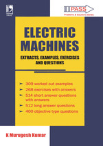 Cover image of Electric Machines: Extracts, Examples, Exercises and Questions