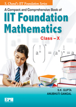 Cover image of A Compact & Comprehensive Book of IIT Foundation Maths  Class X