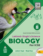 Cover image of Lakhmir Singh's Science for  Biology ICSE Class  8