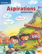 Cover image of Aspirations  Semester Book Class UKG Semester 1