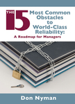 The 15 Most Common Obstacles to World-Class Reliability
