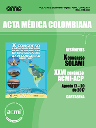 Vol. 42 No 2. Revista Acta Médica Colombiana 2017 (Suplemento - Digital) (COLOMBIA-ACMI)