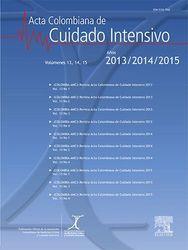 (COLOMBIA-AMCI) Revista Acta Colombiana de Cuidado Intensivo 2015, 2016