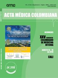 Vol. 43 Nº 2. Revista Acta Médica Colombiana 2018 (Suplemento 2 digital) (COLOMBIA-ACMI)