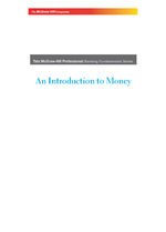 Cover image of AN INTRODUCTION TO MONEY