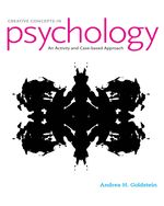 Cover image of Creative Concepts in Psychology: Case Studies and Activities