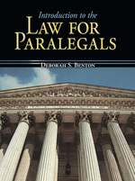 Cover image of Introduction to the Law for Paralegals
