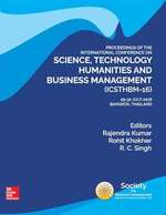 Cover image of PROCEEDINGS OF THE INTERNATIONAL CONFERENCE ON SCIENCE, TECHNOLOGY, HUMANITIES AND BUSINESS MANAGEMENT