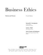 Cover image of Business Ethics: Policies and Persons