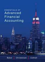 Cover image of Essentials of Advanced Financial Accounting