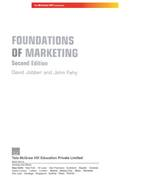 Cover image of FOUNDATIONS OF MARKETING 2E