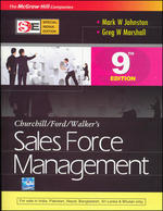 Cover image of SALES FORCE MANAGEMENT (SIE) 9E