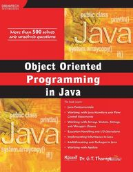 Cover image of Object Oriented Programming in Java