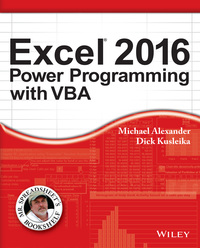 Cover image of Excel 2016 Power Programming with VBA