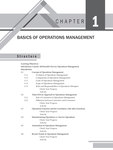 CHAPTER 1: BASICS OF OPERATIONS MANAGEMENT