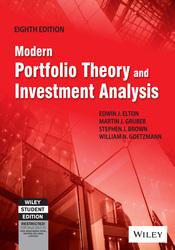 Modern Portfolio Theory and Investment Analysis, 8ed